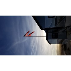 22 Foot Telescopic Flagpole and Ladder Mount
