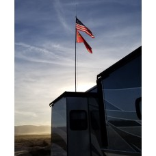 22 Ft Telescopic Flag Pole Kit